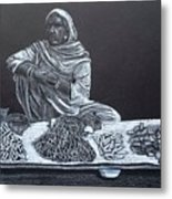 Chalk Seller Metal Print by Ekta Gupta