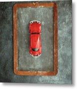 Chalkboard Toy Car Metal Print