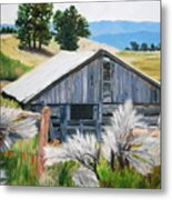 Chama Valley Barn Metal Print