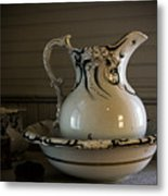 Chamber Pitcher With Basin 3 Metal Print