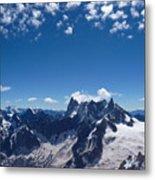 Chamonix Alpine View Metal Print
