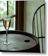 Champagne Glass Metal Print