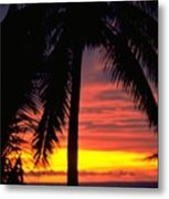Champagne Sunset Metal Print