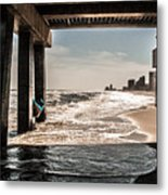Champagne Surf  Metal Print by Kim Loftis