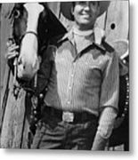 Champion And Gene Autry Metal Print