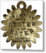 Champion Oyster Eater - To License For Professional Use Visit Granger.com Metal Print