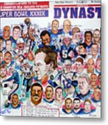 Championship Patriots Newspaper Poster Metal Print