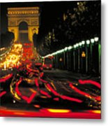 Champs Elysee In Paris Metal Print