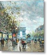 Champs Elysees Avenue, Paris Metal Print