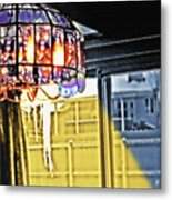 Chandelier - Warm Glow Metal Print by Steve Ohlsen