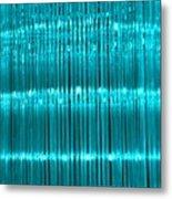 Chandelier In Blue 3 Metal Print