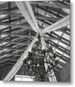 Chandelier In The Rafters Metal Print