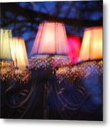 Chandelier In The Trees Metal Print by Peter  McIntosh
