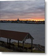 Chandler Hovey Park Sunset Marblehead Ma Metal Print