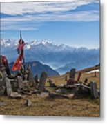 Chandrakani Pass Shrine 2 Metal Print