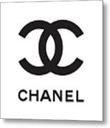 Chanel - Black And White 04 - Lifestyle And Fashion Metal Print
