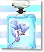 Chanel Blue Decor Metal Print