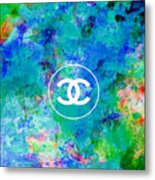 Chanel Blue White Red Black 10 Metal Print