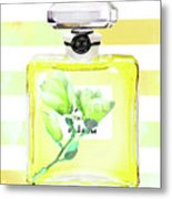 Chanel Magnolia Flower Metal Print
