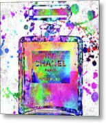 Chanel N.5 Colorful 5 Metal Print