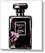 Chanel Noir Magnolia Pink Metal Print