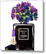 Chanel Noir Perfume Bottle Metal Print