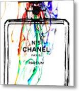 Chanel No. 5 White Metal Print