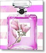 Chanel Pink Flower 5 Metal Print