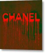 Chanel Plakative Fashion - Neon Weave Metal Print