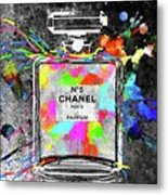 Chanel Rainbow Colors Metal Print