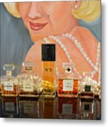 Chanels With Marilyn Monroe Metal Print