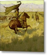 Change Of Ownership -the Stampede Horse Thieves Metal Print