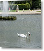 Chantilly Castle Garden In France Metal Print
