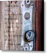 Chapel Door - Verse Metal Print