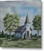 Chapel In Summer Metal Print