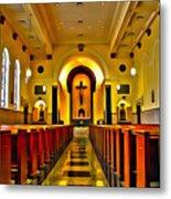 Chapel Interior I Metal Print