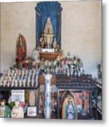 Chapel Mortuary Interior - San Xavier Del Bac Mission - Tucson Arizona Metal Print