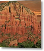 Chapel Of The Holy Cross At Sunset Metal Print