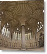 Chapter House, Wells Cathedral, Somerset Uk Metal Print