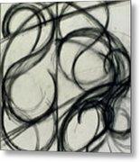 Charcoal Arc Drawing 6 Metal Print