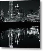 Charcoal Night In Dallas Metal Print