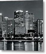 Charcoal Panoramic In Pittsburgh 2017 Metal Print