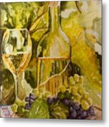 Chardonnay At The Vineyard Metal Print