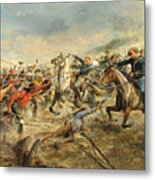 Charge Of The Seventh Cavalry Metal Print