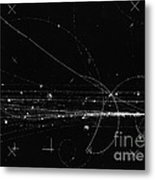 Charged Particles, Bubble Chamber Event Metal Print