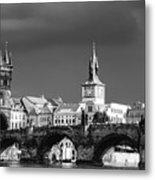 Charles Bridge Prague Czech Republic Metal Print by Matthias Hauser