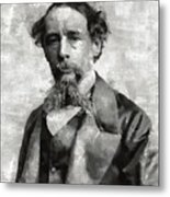 Charles Dickens Author Metal Print