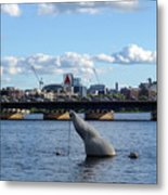 Charles River Boston Ma Crossing The Charles Citgo Sign Mass Ave Bridge Metal Print