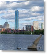Charles River Boston Ma Crossing The Charles Metal Print