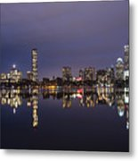 Charles River Clear Water Reflection Metal Print